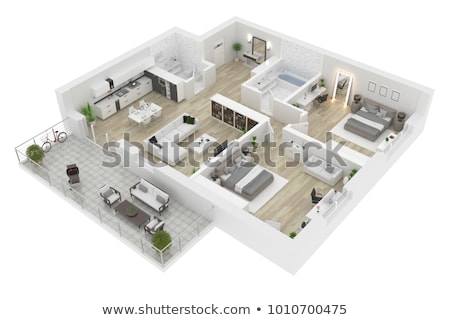 home floor plan stock photo © raywoo