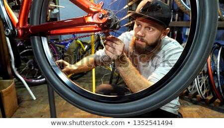 Mountain bike in garage Stock photo © pressmaster