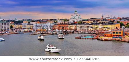 Helsinki görmek katedral Finlandiya su şehir Stok fotoğraf © Alenmax