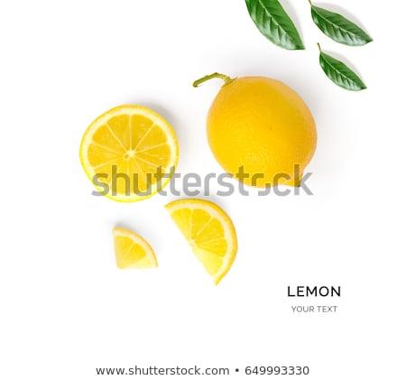 geïsoleerd · citroen · oranje · voedsel · vruchten · achtergrond - stockfoto © M-studio