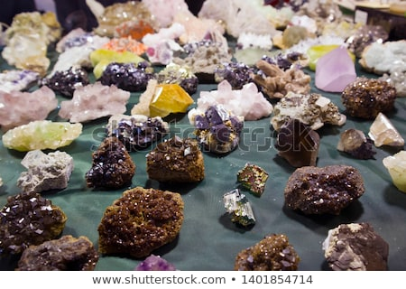 Ametist mineral mor güzel doğa kaya Stok fotoğraf © jonnysek