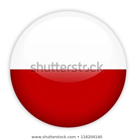 стекла · кнопки · флаг · Польша · красный · лук - Сток-фото © maxmitzu