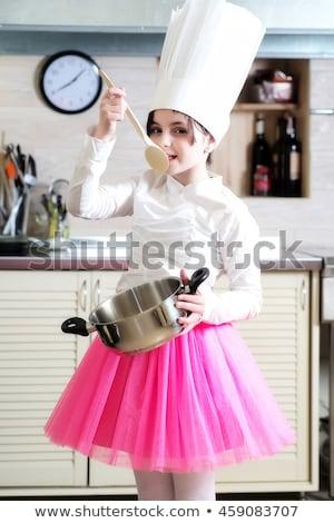 повар · ребенка · кухне · небольшой · здоровое · питание - Сток-фото © aikon