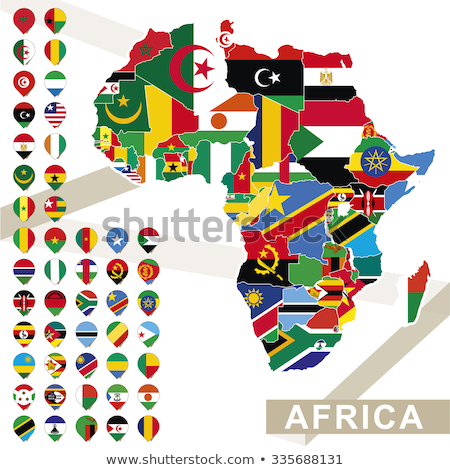 Africa map withTanzania Stock photo © Ustofre9