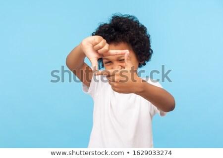 мало мальчика фото камеры изолированный белый Сток-фото © natalinka