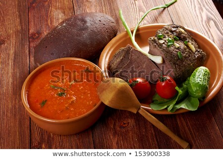 Italian Farm Style Soup Stok fotoğraf © Fanfo