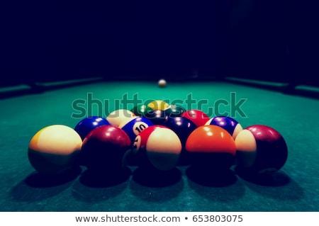 Billards pool game. Aiming at cue ball Stock photo © photocreo