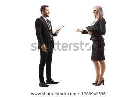 pak · zakenman · praten · handen · gebaar - stockfoto © lunamarina