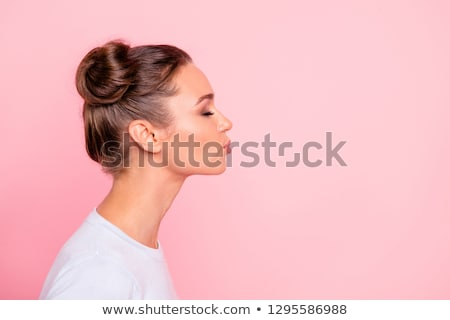 Side view of girl smiling Stock photo © zzve