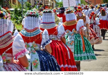 hand in the colors of czech republic stock photo © Nelosa