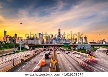 Downtown Chicago, IL in the morning Stock photo © AndreyKr