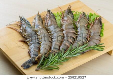 Tiger shrimp platter Stock photo © stevemc