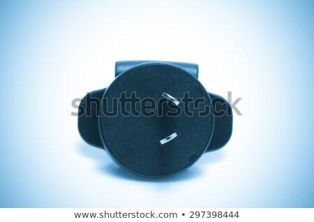 adapter plug, blue tone process Stock photo © pxhidalgo