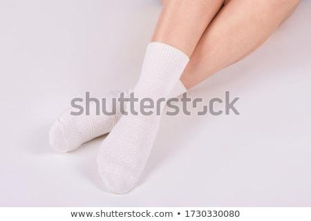 Vrouw benen kousen geïsoleerd witte model Stockfoto © pxhidalgo