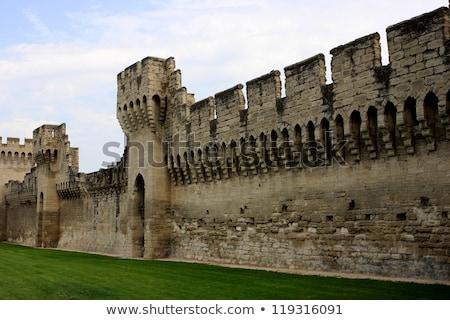 Ciudad pared Francia edad cielo edificio Foto stock © dinozzaver