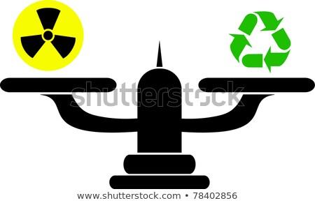 Icon of Scales in Balance on Green Arrow. Stock photo © tashatuvango