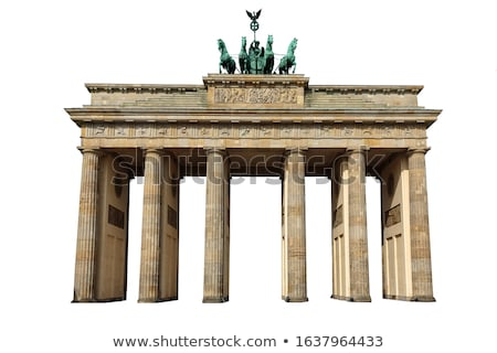 Brandenburgi kapu Berlin Németország retro klasszikus stílus Stock fotó © photocreo