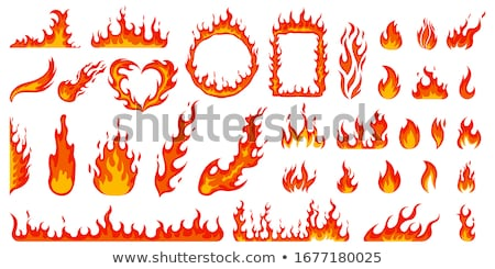 Ardente fiamme abstract illustrazione vettore Foto d'archivio © derocz