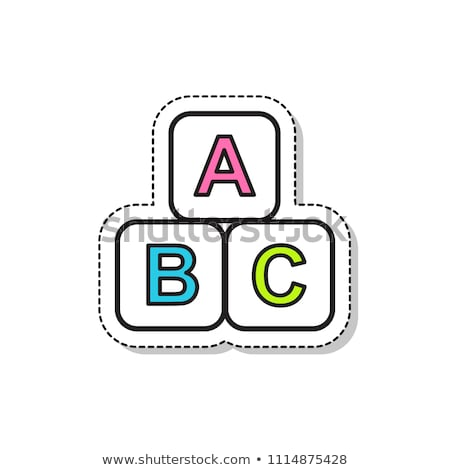 Number Sign - Childrens Alphabet Block. Stock photo © tashatuvango