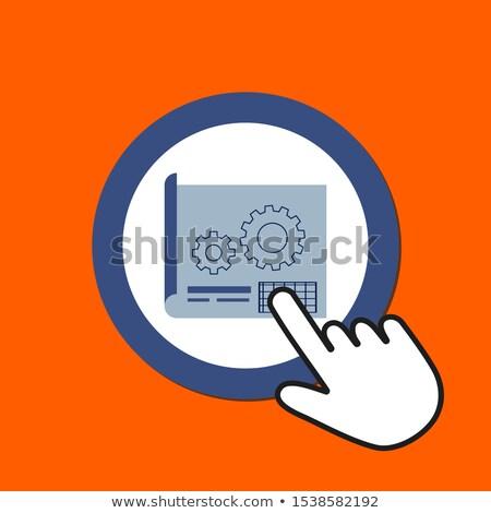 Planlama düğme el imleç Internet gelecek Stok fotoğraf © tashatuvango