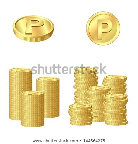 Arany érmék pont sok boldog vásárlás felirat Stock fotó © taiyaki999