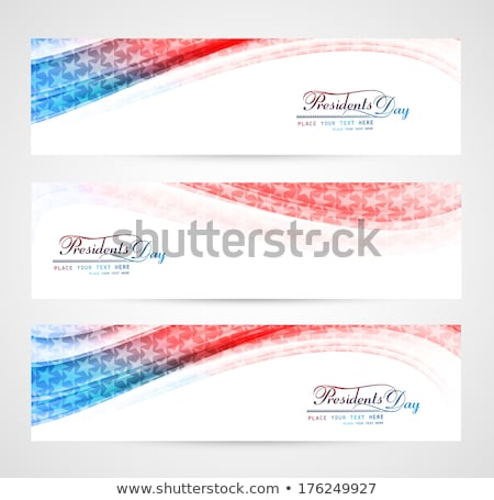 beautiful united states flag presidents day background vector stock photo © bharat