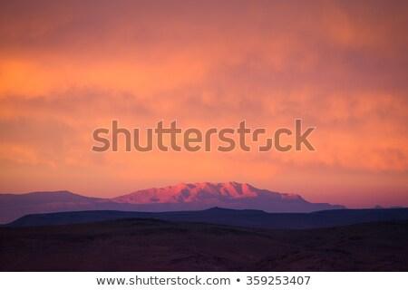 Tájkép atlasz hegyek naplemente sivatag hegy Stock fotó © meinzahn