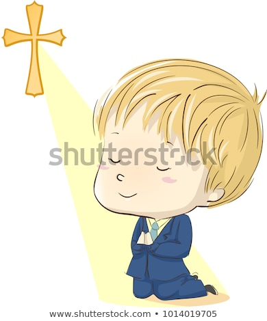 Young boy praying in his First Communion Stock photo © BigKnell