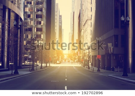 Chicago City downtown at dusk Stock photo © vichie81