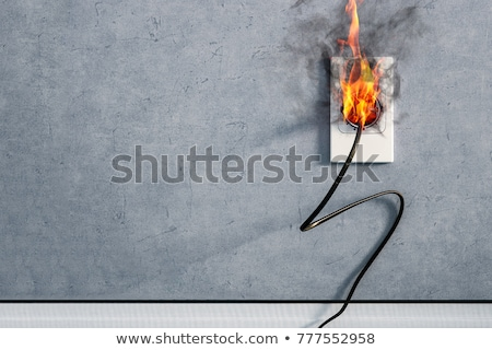 electrical fire hazard Stock photo © zkruger