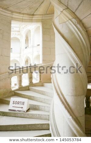 Chambord Castle, France Double helix staircase by Leonardo da Vinci Stock photo © wjarek