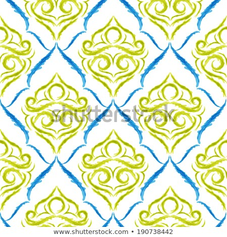 Aquarelle circle, vector vintage seamless pattern  Stock photo © kali