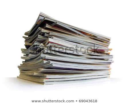 Stack of magazines studio isolated on white Stock photo © Lizard