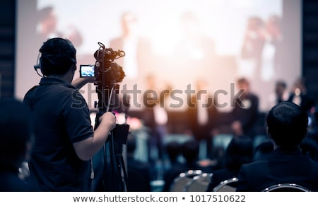 Cameraman with cameras Stock photo © bmonteny