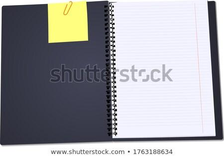 nyitott · könyv · napló · vázlat · spirál · háló · kártya - stock fotó © leonido