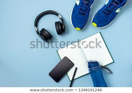 Homem corrida caneta negócio trabalhar Foto stock © mizar_21984