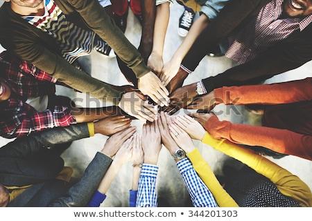 Ludzka ręka czarny cool wsparcia opieki przyjaźni Zdjęcia stock © gemenacom