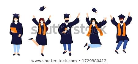 Son sınıf çalışma kız hareketli Stok fotoğraf © gemenacom
