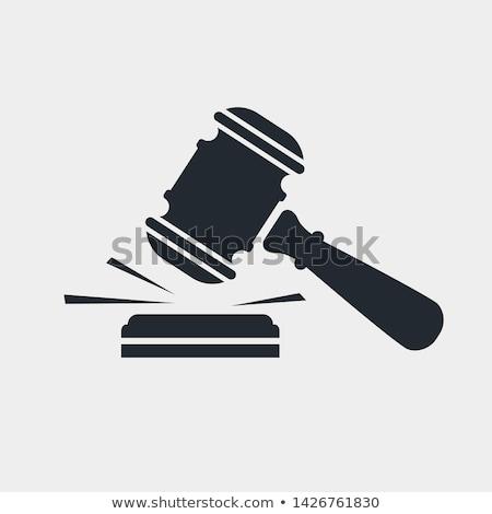 Justice droit studio marteau blanche échelle Photo stock © BrunoWeltmann