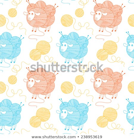 Abstract Red and blue colorful background. Sheep wool vector backdrop. Stock photo © mcherevan