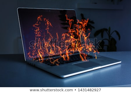 Burned keyboard Stock photo © ajt