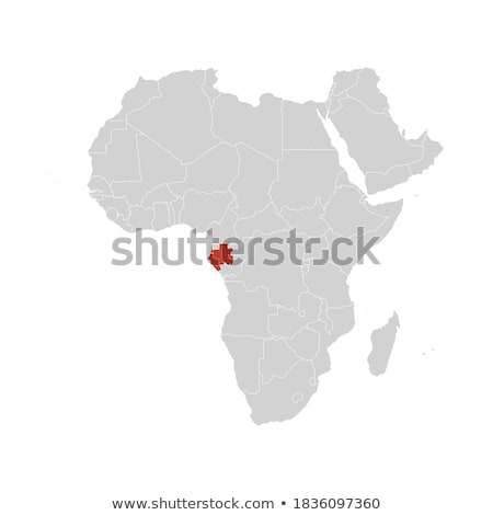 silhouette map of Gabon Stock photo © mayboro