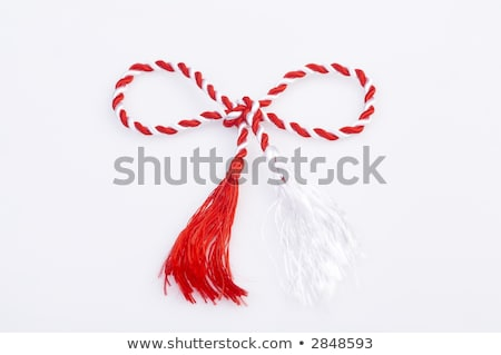 Red and white March 1 trinket Stock photo © mady70