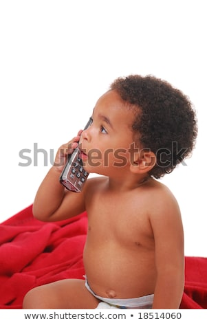 Multi-racial baby wrapped in a blanket Stock photo © elvinstar