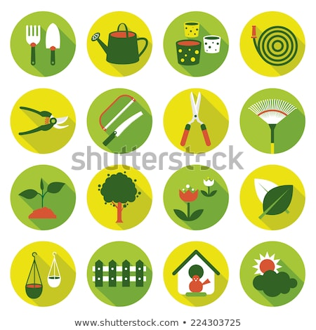 Gardening Fork and Trowel flat icon Stock photo © Anna_leni