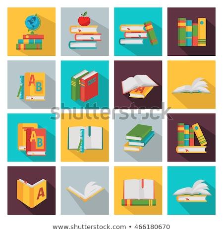 Education themed squared app icon set Stock photo © Anna_leni