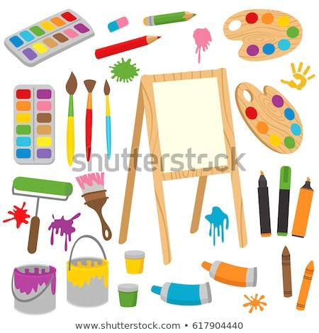 vecteur · icônes · dessin · écrit · outils - photo stock © elisanth