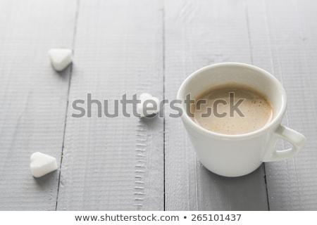 чашку кофе молоко ресторан таблице энергии Сток-фото © fotoaloja