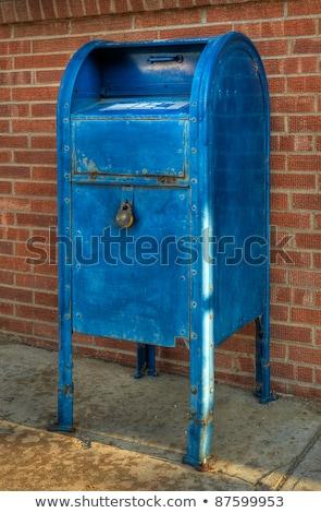 старые синий ржавчины солнце краской связи Сток-фото © Agatalina
