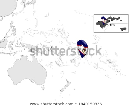high detailed vector map of samoa with navigation pins stock photo © tkacchuk